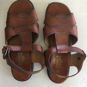 Kinsman Mens Brown Leather Sandals